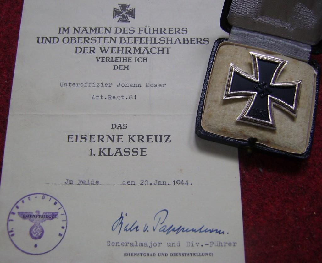 IJzeren Kruis-onderscheiding voor Wehrmacht-soldaten
