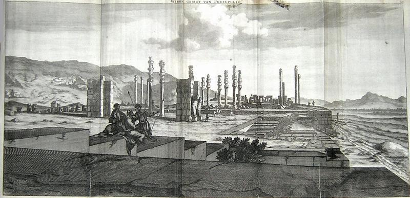 Tekening van Cornelis de Bruijn die Persepolis in 1704 bezocht. - cc