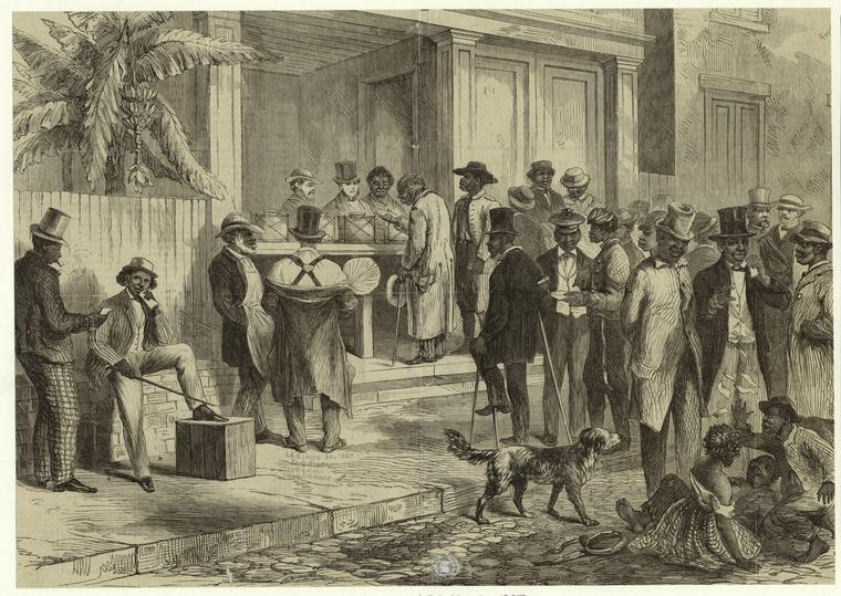 Voormalige slaven stemmen in New Orleans, 1867