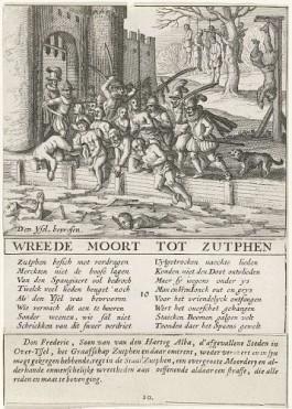 'Wreede moort tot Zutphen'; pamflet over de bloedige uitslag van de Spaanse inval in de Gelderse stad.