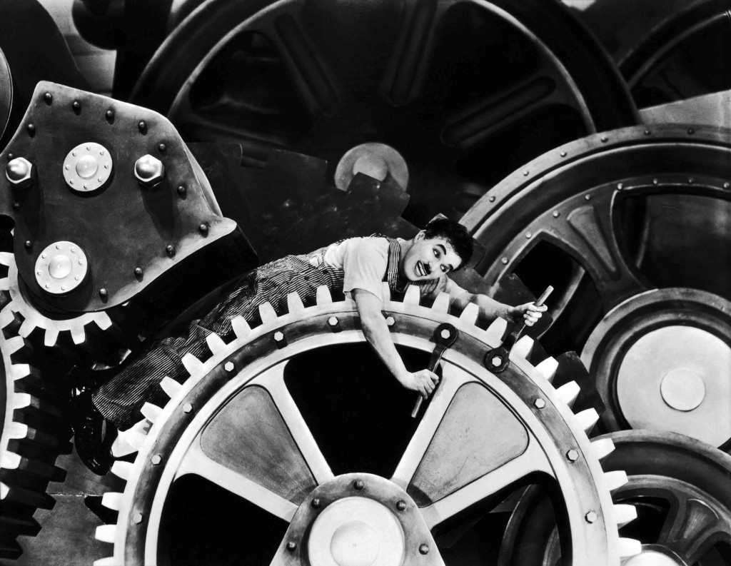 Fragment uit Charlie Chaplins 'Modern Times'