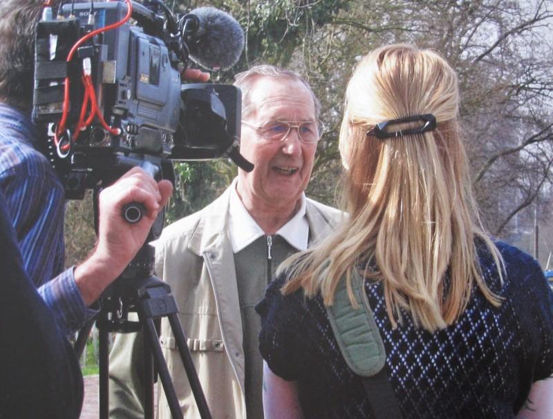 Karl-Heinz Henschel tijdens interview. Collectie I. Maan. Foto: Hans Timmerman | 24 maart 2010