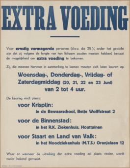 Massavoeding Dordrecht - Drukkerij J. de Longte, juni 1945