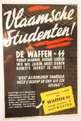 Propaganda Waffen SS gericht aan de Vlaamse studenten (Bron : privé archief familie Daerden)