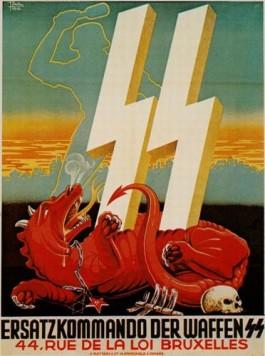 Antibolsjewistische wervingsaffiche Waffen SS - cc