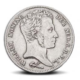 Gulden uit 1829 met afbeelding van koning Willem I. Bron: www.knm.nl