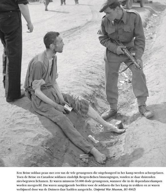 6) Bergen Belsen kort na bevrijding