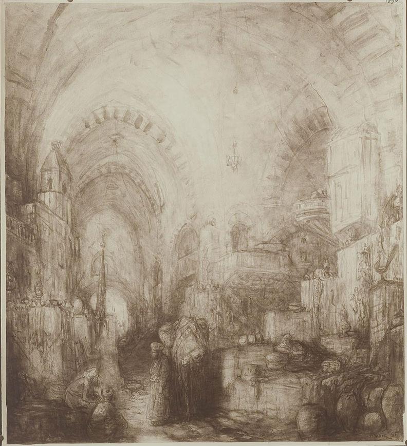 Bazaar in het oosten - Marius Bauer (Geheugen van Nederland)