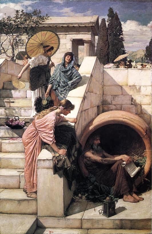 Diogenes in regenton