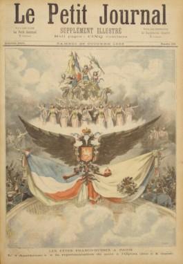 Bericht over de viering van het verdrag in Let Petit Journal, 1893