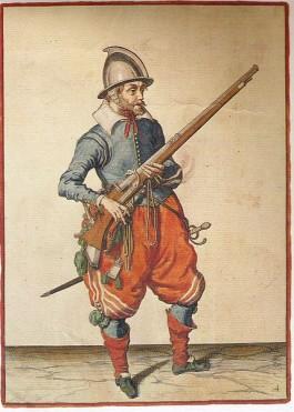 Musketier door Jacob de Gheyn