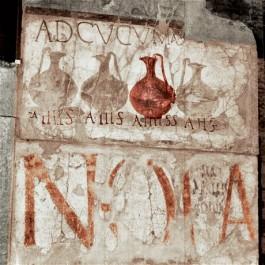 Wijnlijstje in Pompei