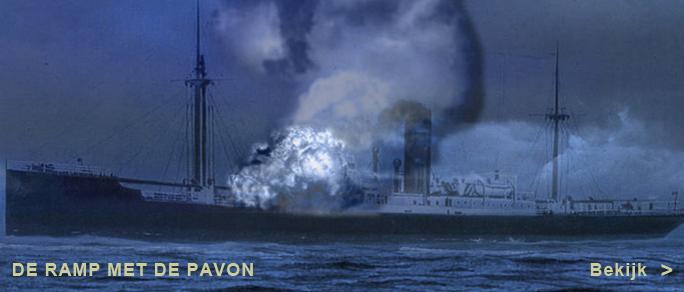 Animatie van Pieter van den Berg van het bombardement van de Pavon in de nacht van 20 op 21 mei 1940. Hij wijdde een illustratieve website aan de lotgevallen van een groep luchtwachters uit Helmond, waaronder zijn oom Jan van Bussel, die ook op de Pavon terechtkwamen en deels niet meer thuis kwamen.