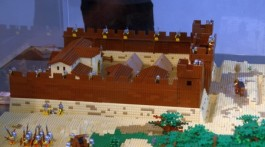 Maquette van een Romeins fort (AVRA, Antwerpen)