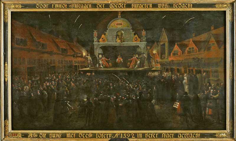 Gillis Coignet, De trekking van de loterij van 1592 ten bate van het Dolhuis (1593)