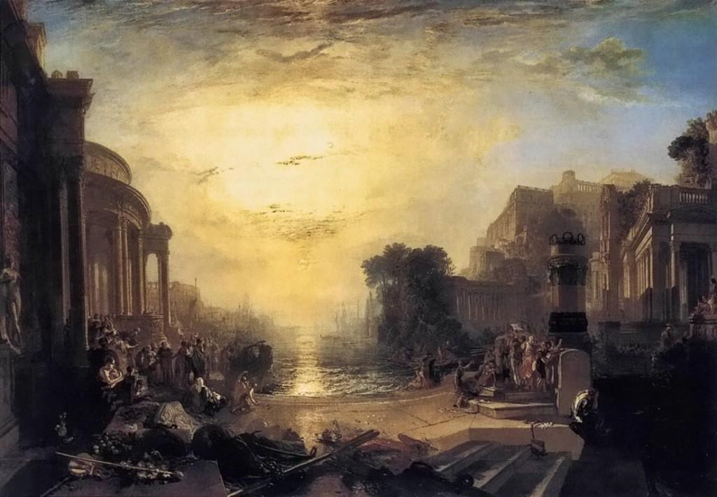 Ondergang van Carthago - Turner, 1817