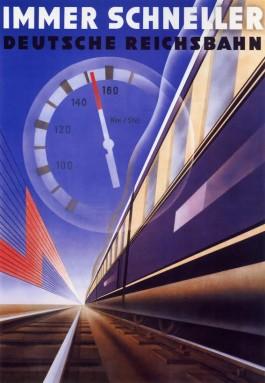 Affiche Immer schneller door H.J. Barschel, ca. 1935