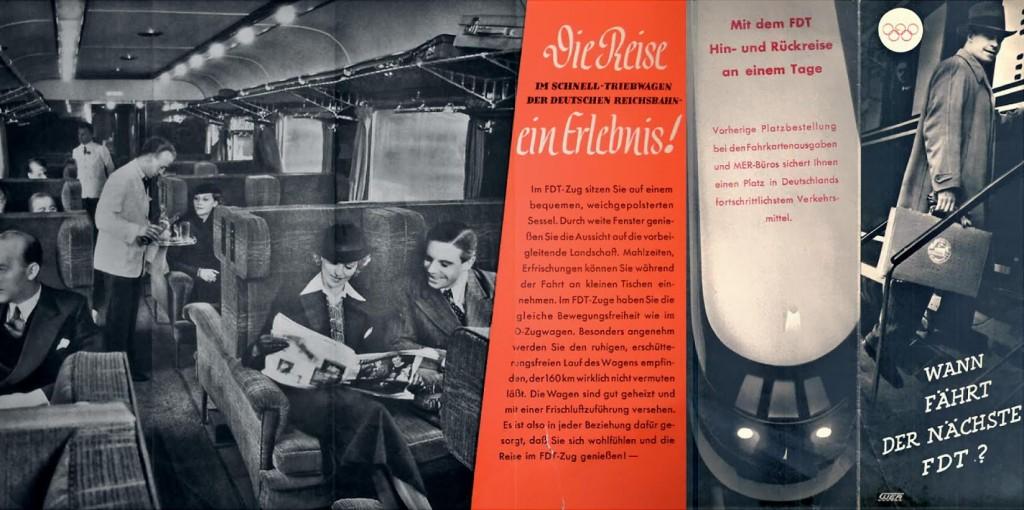 Folder over de FDT-treinen (Fernschnellzug mit Triebwagen), 1936