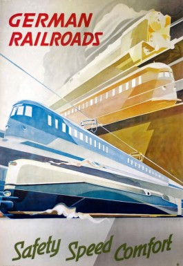 Affiche German Railroads door Hermann Schneider, 1936