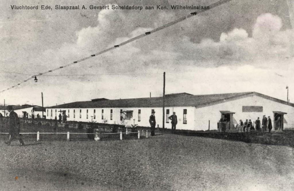 Ansichtkaart Slaapzaal Gevaert Vluchtoord Ede ca 1915