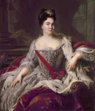Catharina I van Rusland, de tweede echtgenote van Peter de Grote