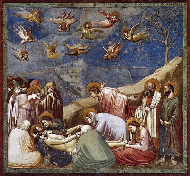 De bewening van Christus 1304-1313, fresco, 231 x 202 cm, Padua, Capella Scrovegni
