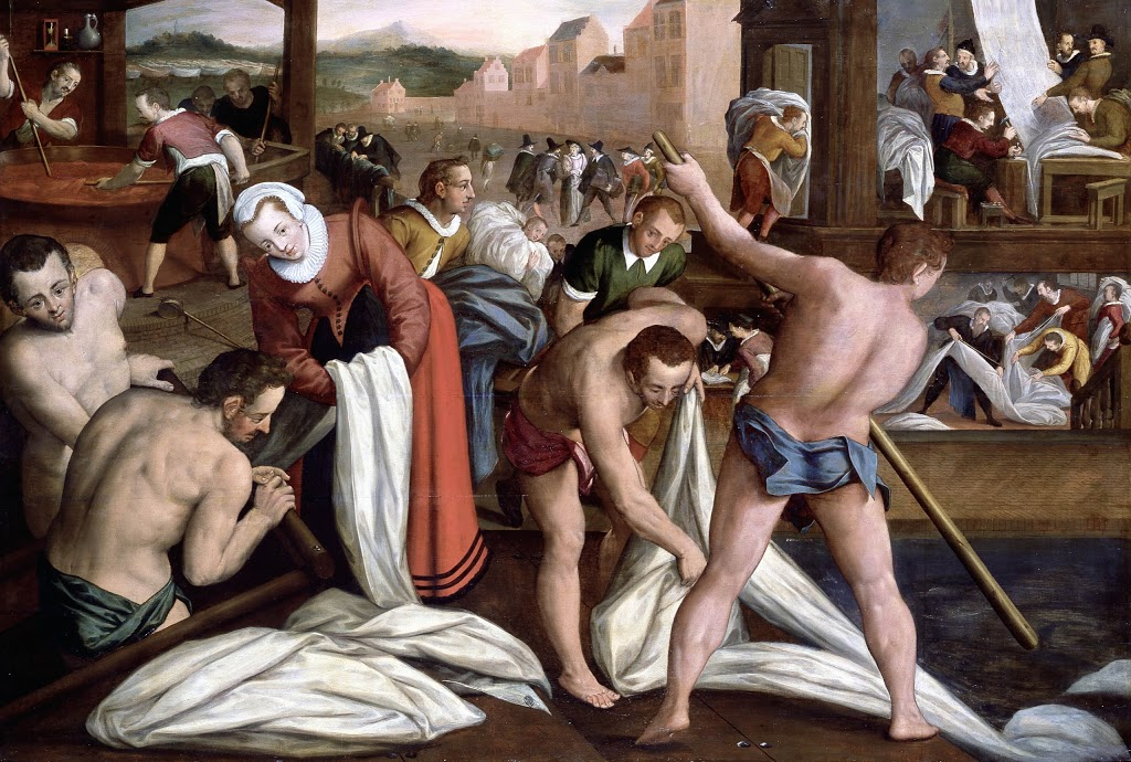 Isaac Claesz. Van Swanenburgh, Het vollen en verven, 1594-1596. Collectie Stedelijk Museum De Lakenhal, Leiden