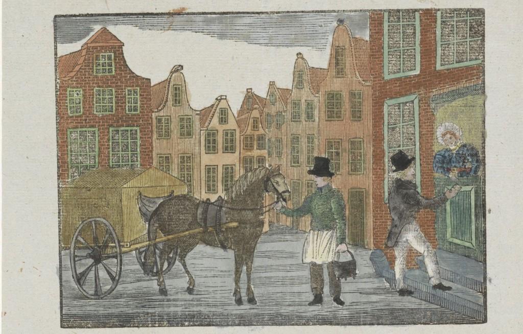 Kermisprent van de Amsterdamse askarrenmannen voor het jaar 1843, anoniem. Rijksmuseum Amsterdam.