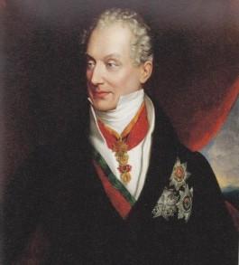 Prins Klemens Wenzel von Metternich (1773-1859), kanselier van Oostenrijk tot hij in 1848 op de vlucht werd gedreven, was één van de toonaangevende figuren in de eerste helft van de negentiende eeuw. Hij was er van overtuigd dat er een omvangrijke, mondiale samenzwering bestond met het doel in de gehele wereld tronen en altaren omver te werpen. Hij was vastbesloten deze samenzwering tot aan zijn dood te bestrijden met draconische tegenmaatregelen.