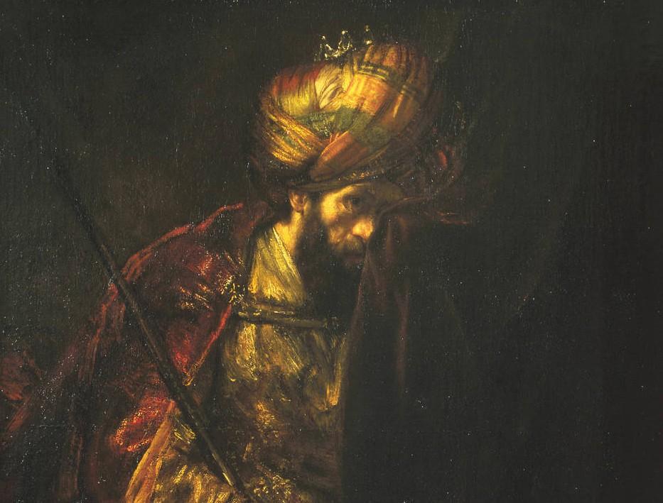 Saul en David (Mauritshuis) - detail