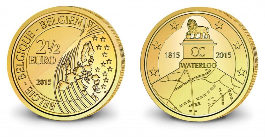 Waterloo munt van 2,5 euro
