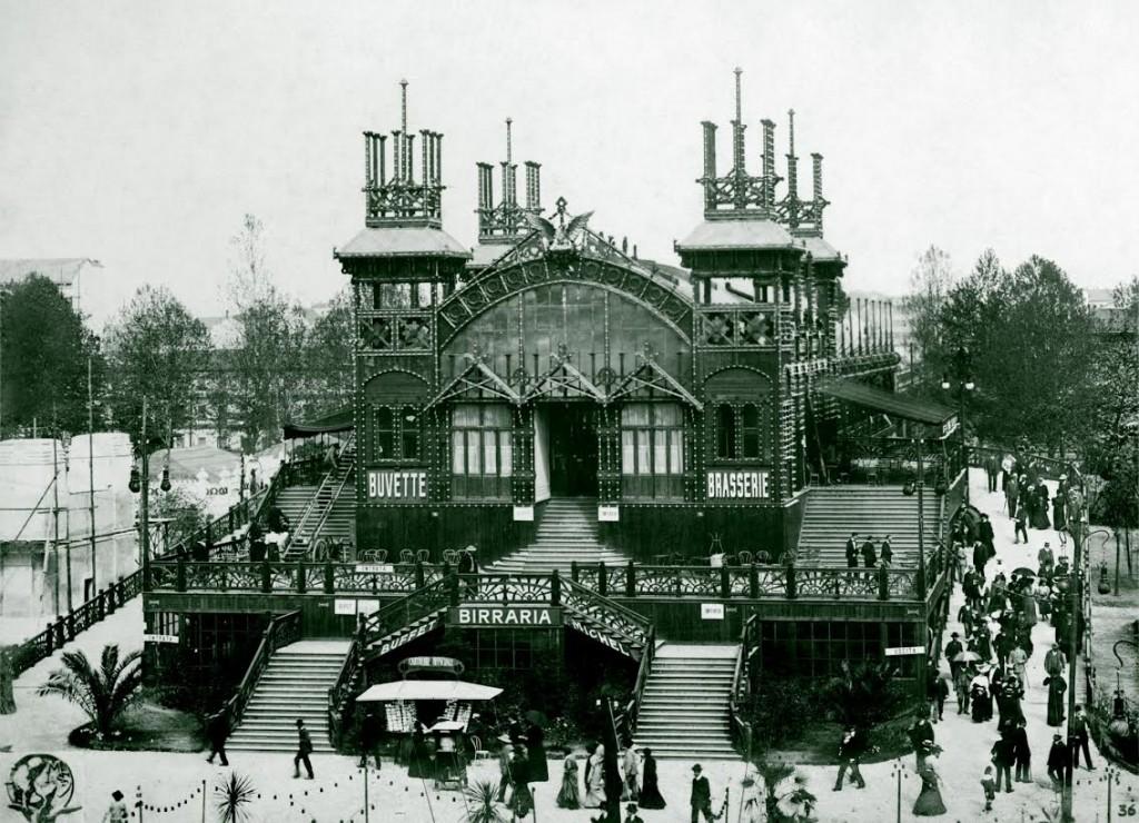 Station Piazza d'Armi van de Ferrovia elevata, 1906