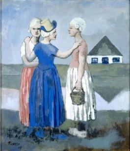 Picasso Les Trois Hollandaises 1905 gouache collectie Centre Pompidou