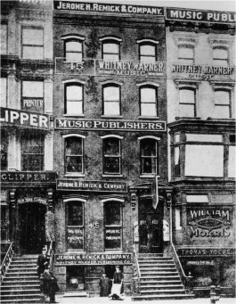 Tin Pan Alley, 28th Street in New York. Bron: http://gotham.fromthesquare.org/