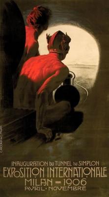 Affiche Exposition Internationale Milan door Leopoldo Metlicovitz, 1906