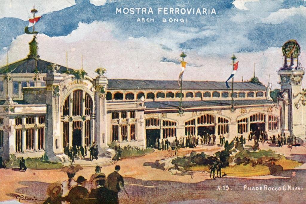 Ansichtkaart Mostra ferroviaria (spoorwegexpo), 1906