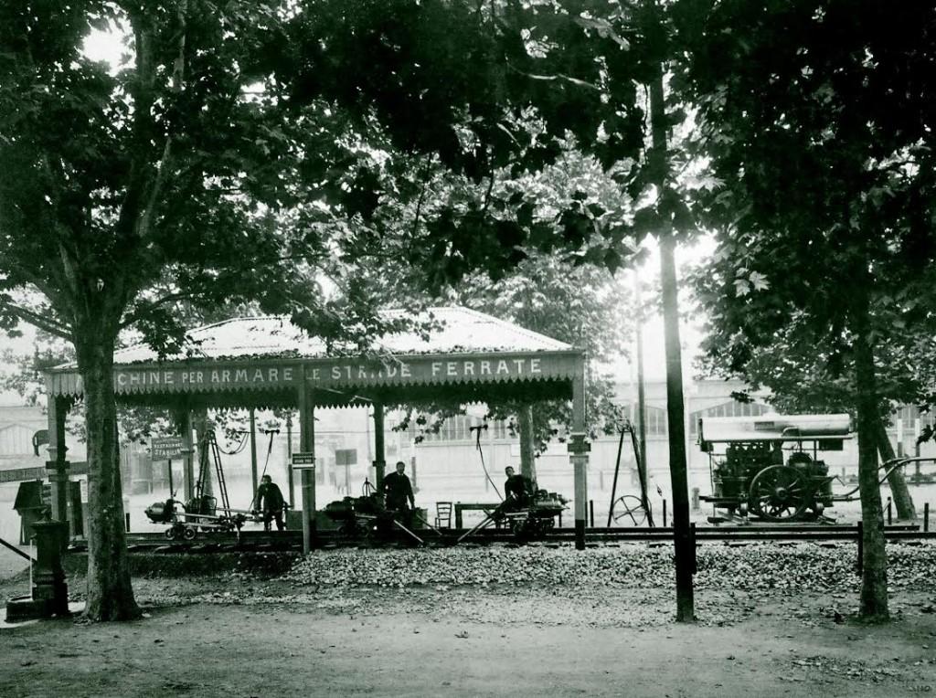 Machine voor het leggen van rails, 1906