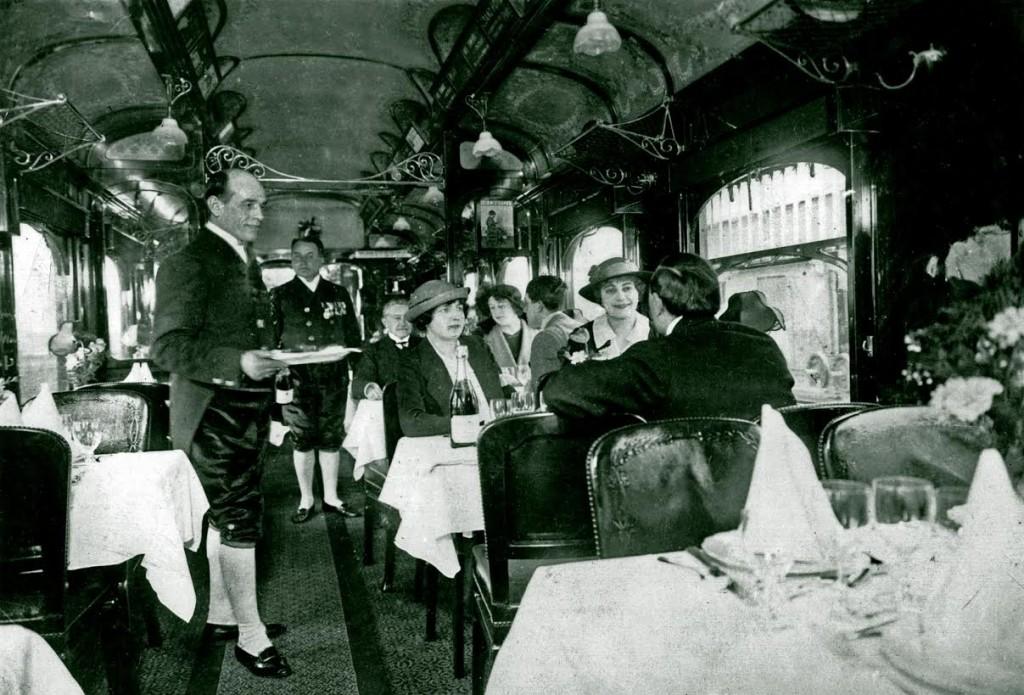 Promotiefoto restauratierijtuig no. 1651 van Wagons-Lits, 1906