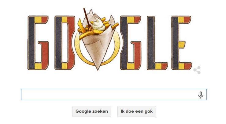 21 juli Nationale Feestdag - Google Doodle
