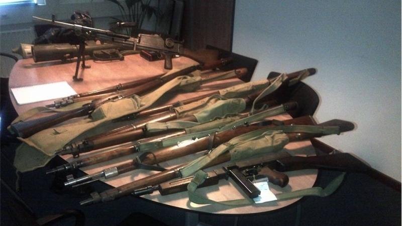 Een aantal van de wapens (Politie)