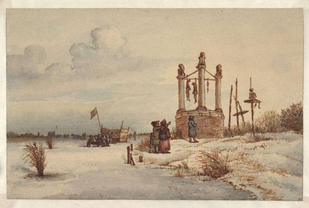 Galgenveld van Amsterdam in 1795 - Gerrit Lamberts