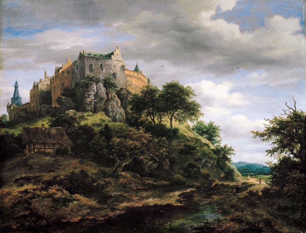 Gezicht op kasteel Bentheim – Jacob van Ruisdael, 1652-54 (Mauritshuis)
