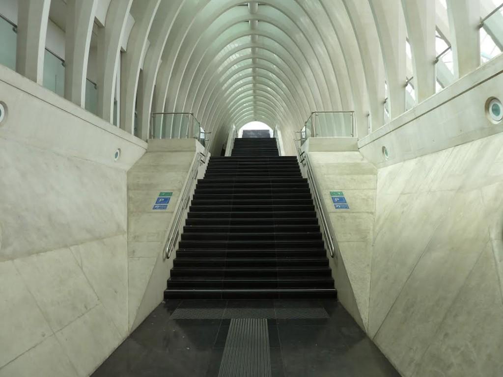 Het futuristische treinstation van Luik