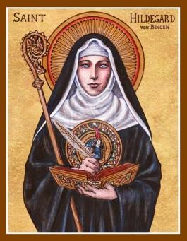 Icoon van Hildegard van Bingen. Bron: deviantart.net