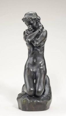 Jong meisje met slang - Auguste Rodin