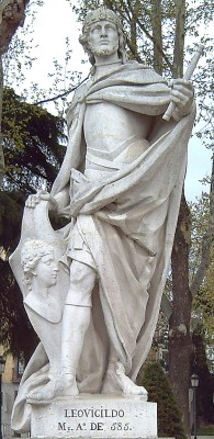 Standbeeld van koning Leovigildo in Madrid - cc