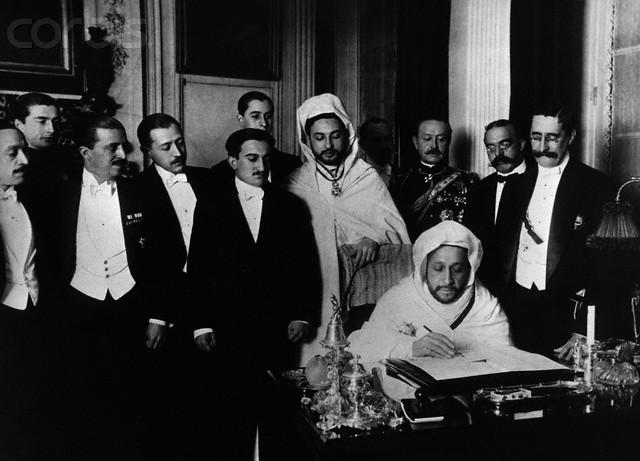 Ondertekening na afloop van de Conferentie in Algeciras (wiki)