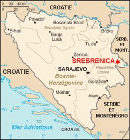 Srebrenica op de kaart