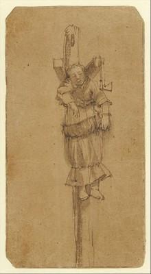 Tekening van Elsje Christiaens gemaakt door Rembrandt van Rijn.