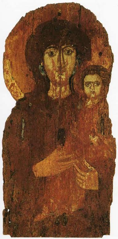 Icoon 'Madonna en kind' in het Pantheon te Rome. Bron: boek